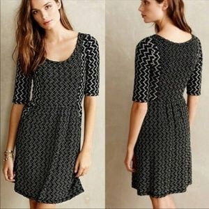 Saturday Sunday Chevron panel dress